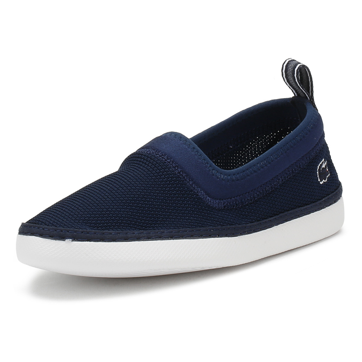 09c153bc39b2a3 Details about Lacoste Kids Navy   White L.YDRO 118 1 Espadrilles Casual  Slip On Flat Shoes