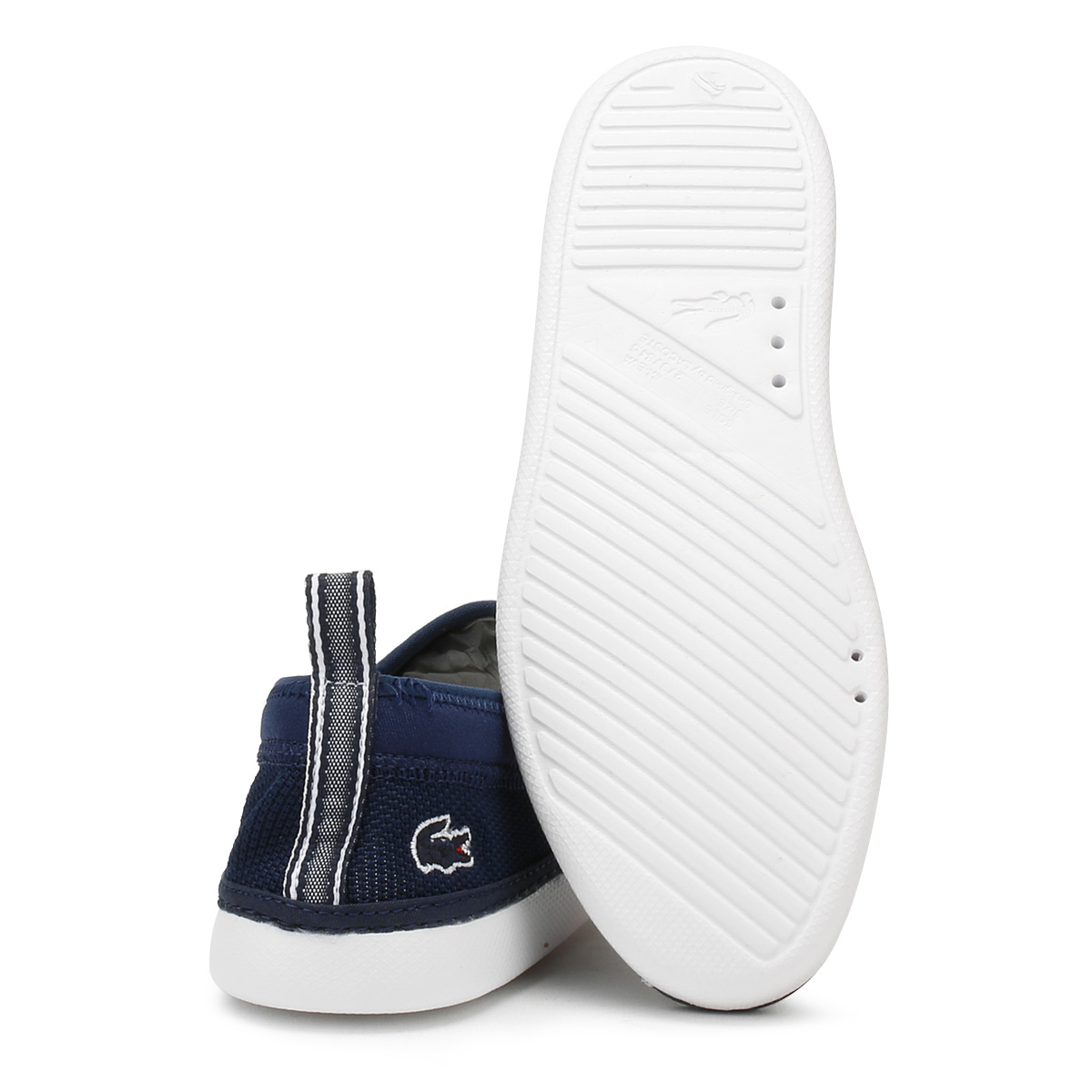 947a62582 Lacoste Boys L.ydro Navy white Slip on Trainers Euro Size 38 UK ...