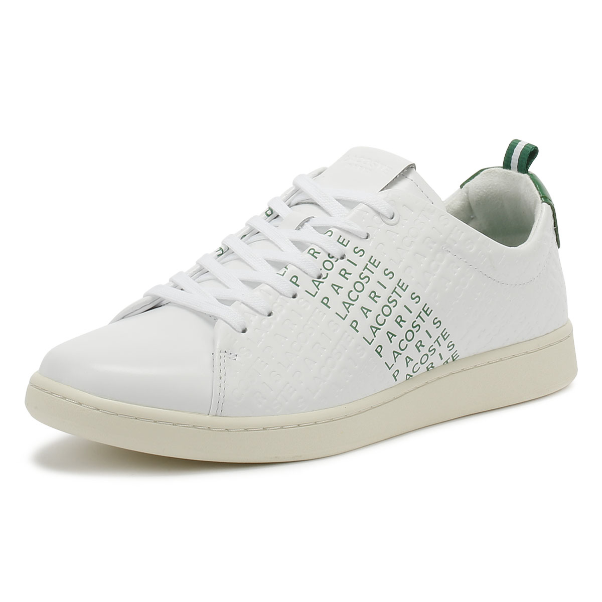 2d556f41f486 Lacoste Carnaby EVO 119 9 Mens White   Green Trainers Sport Casual Shoes