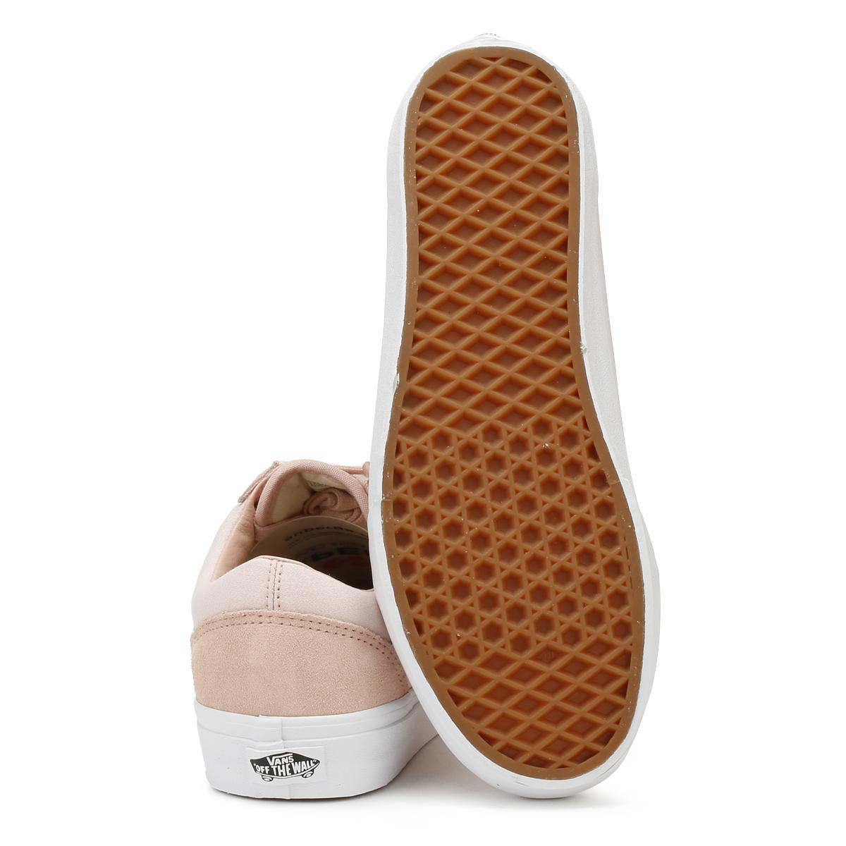 Vans True Unisex Sand & True Vans White Suiting Old Skool Lace Up Casual Shoes e3212c