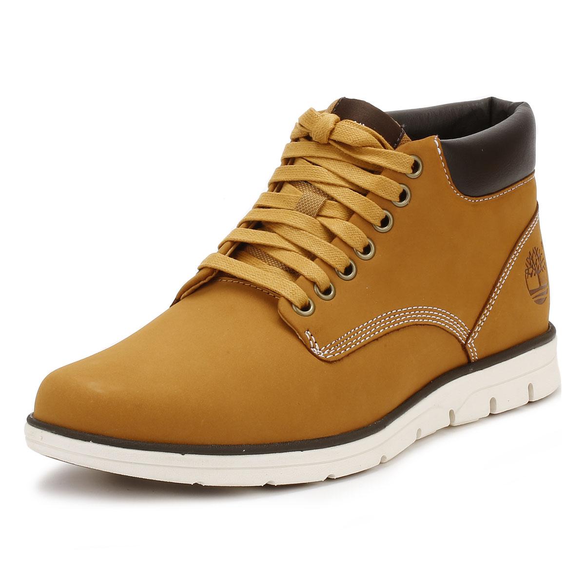 Détails sur Timberlands homme chukka bottes blé jaune Bradstreet en cuir à lacets chaussures afficher le titre d'origine