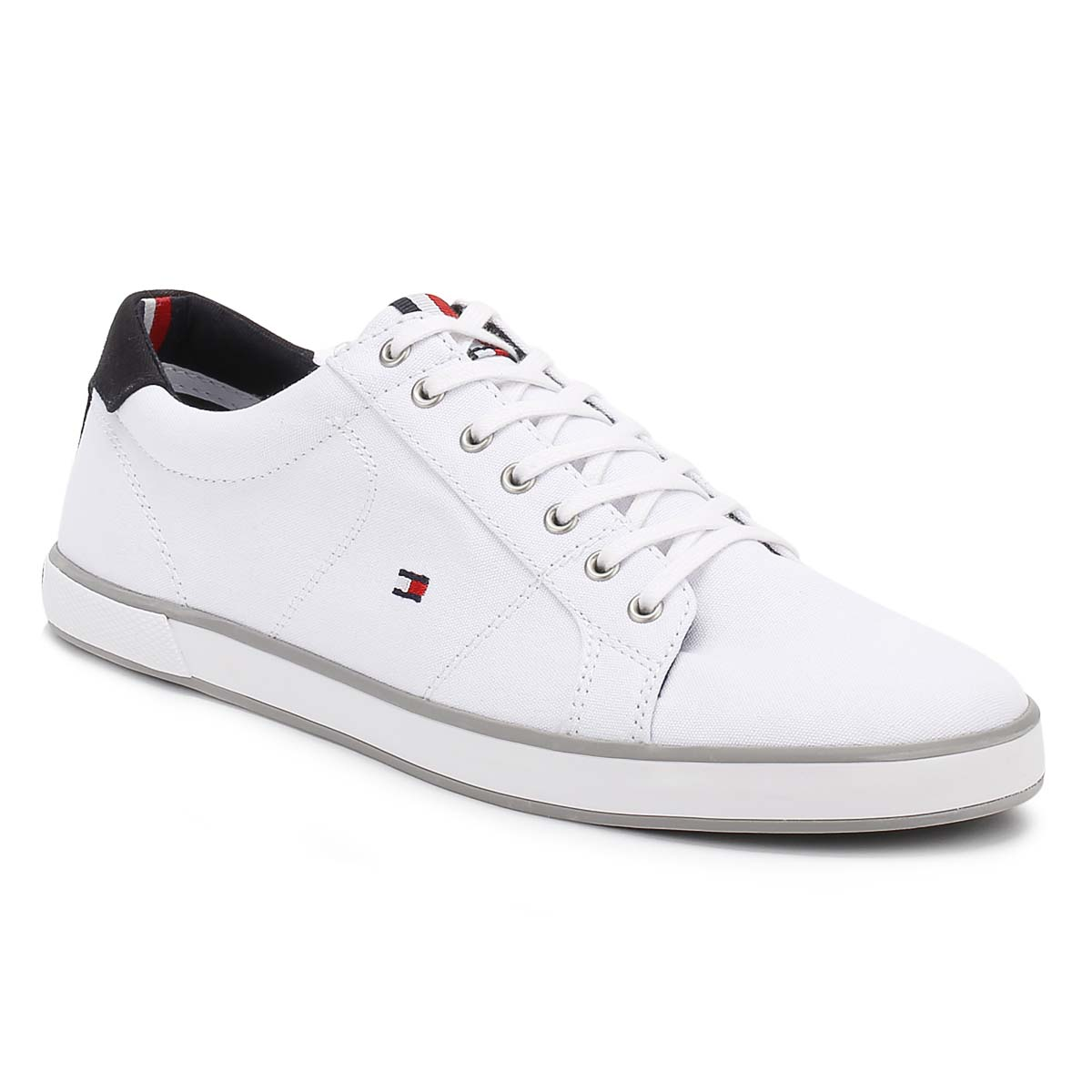Tommy Hilfiger Mens Trainers White Harlow 1D Textile ...