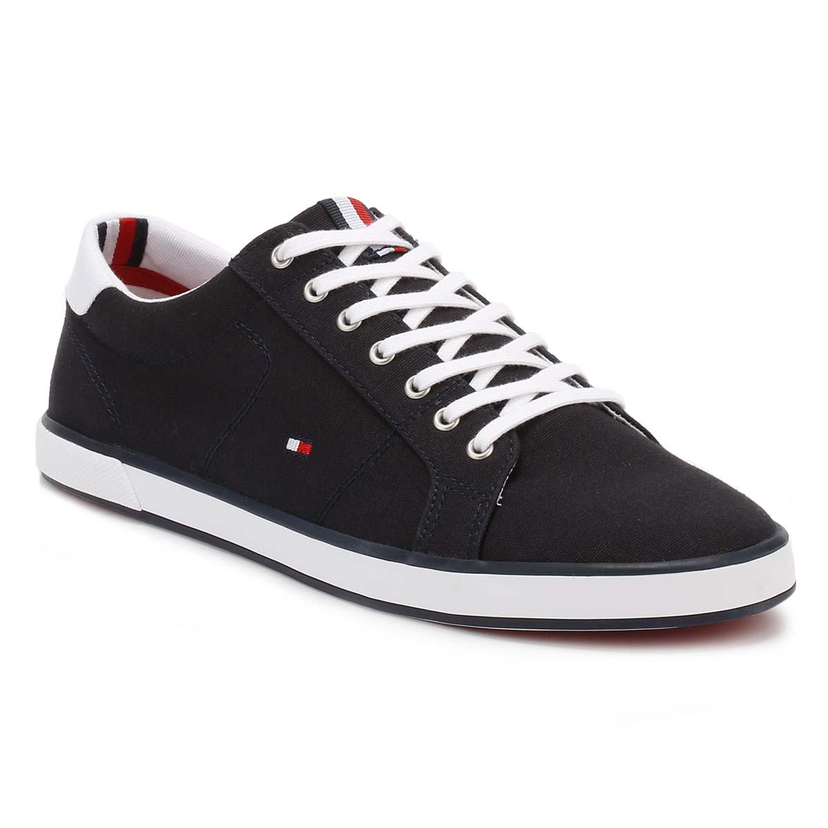 598130af2f999 Tommy Hilfiger Mens Trainers Black Midnight Harlow 1D Textile Lace ...