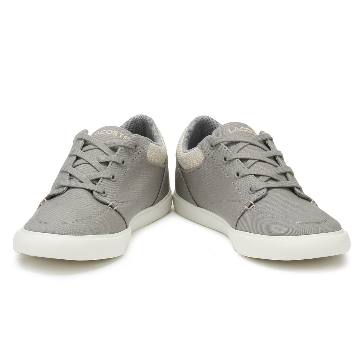Lacoste &  Uomo Trainers Grau & Lacoste Natural Bayliss 218 2 Sport Casual Lace Up Schuhes ad84eb