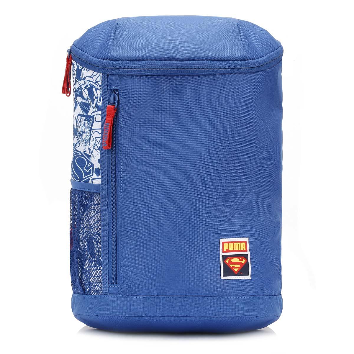 e925694fccfb4 Details about Puma Kids Boys Girls Backpack Blue Superman Cape Adjustable  Shoulder Straps