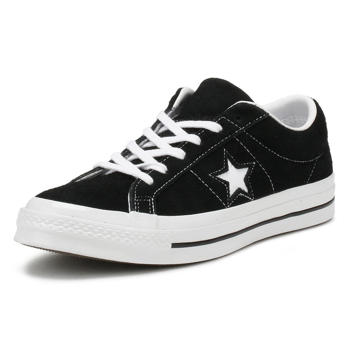 Converse One Star Ox Unisex Scarpe Da Ginnastica Navy Premium in Pelle Scamosciata Con Lacci Scarpe Casual