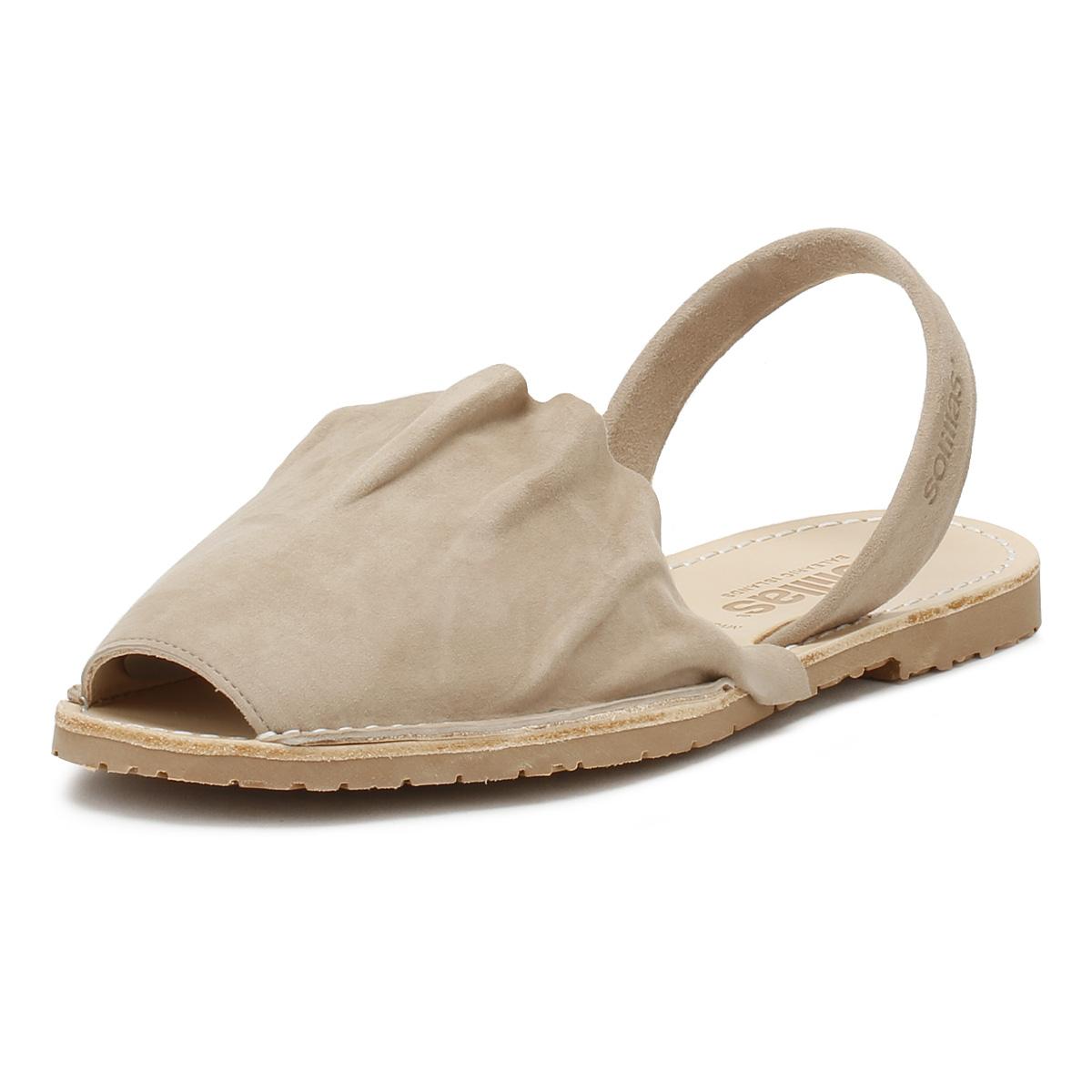 Charmant Solillas Femme Sandales Taupe Volant Daim Chaussures D'été Chaussures De Loisirs-afficher Le Titre D'origine Larges VariéTéS