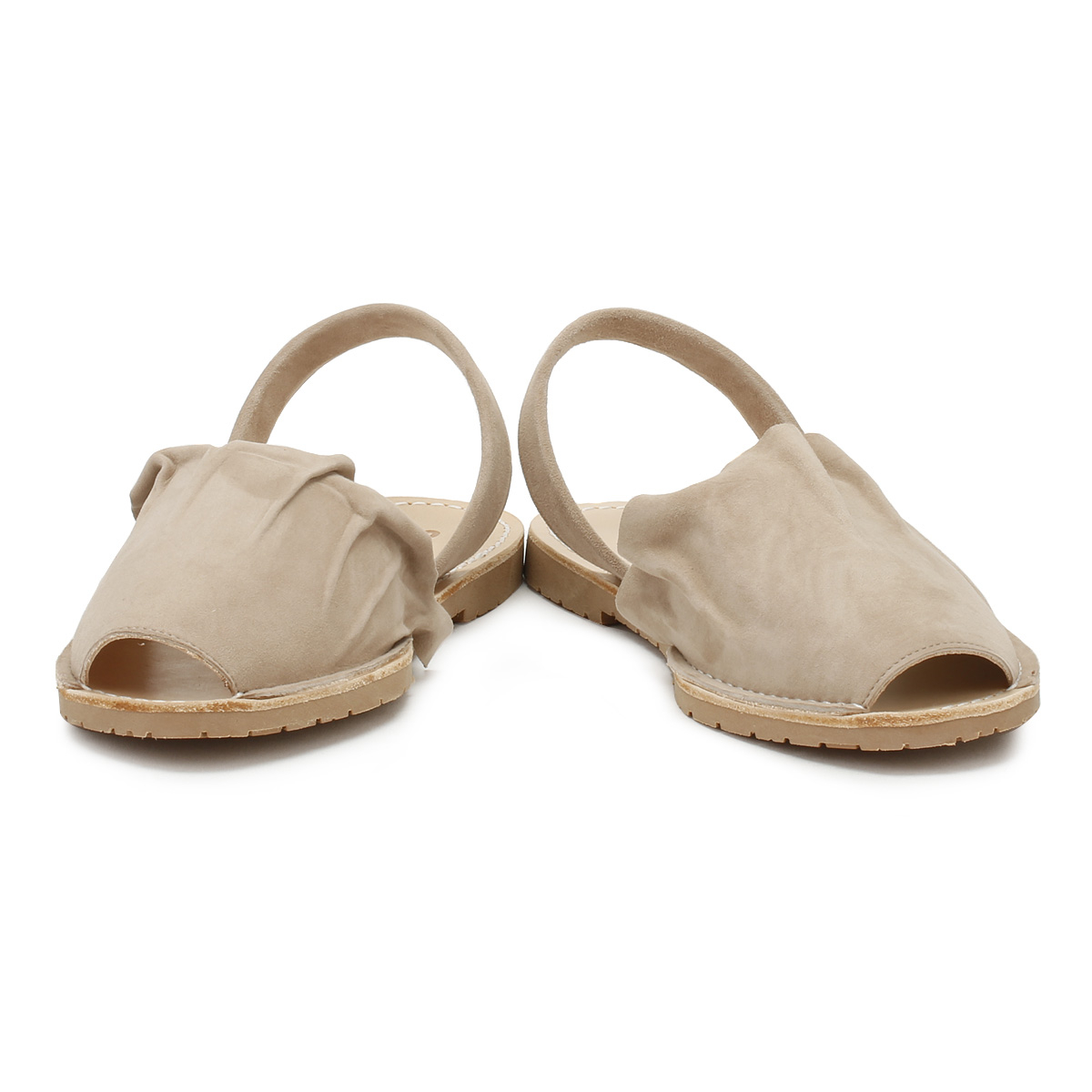 Solillas Womens Sandals Summer Taupe Volant Suede Flats Summer Sandals Casual Shoes b2db4a