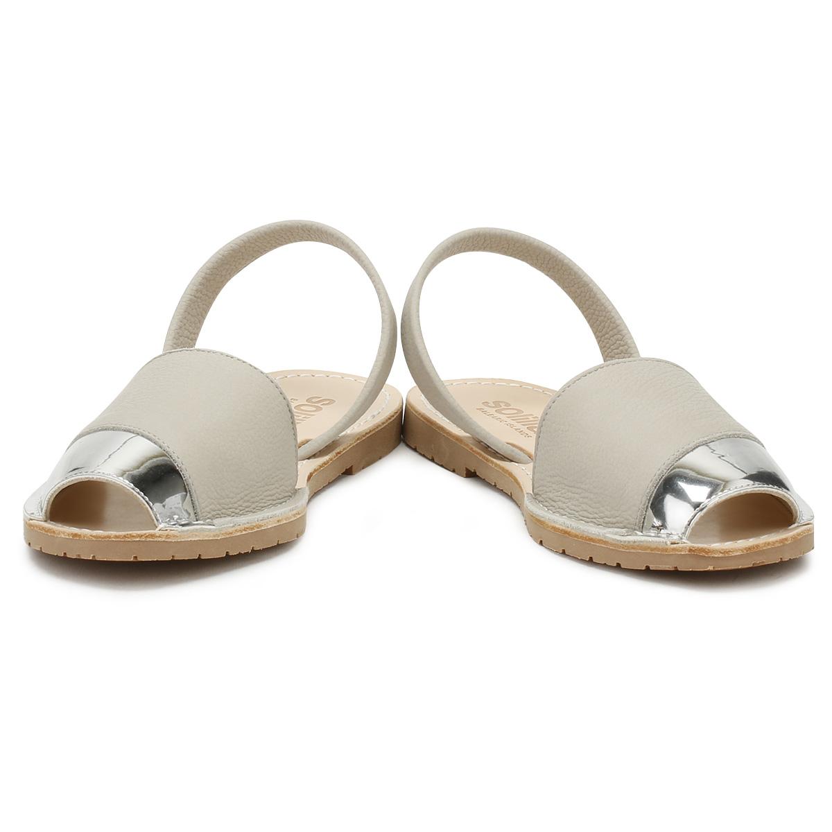 Solillas Sandalias De Mujer Crema y Oro Aina Damas Verano Informales Zapatos Planos