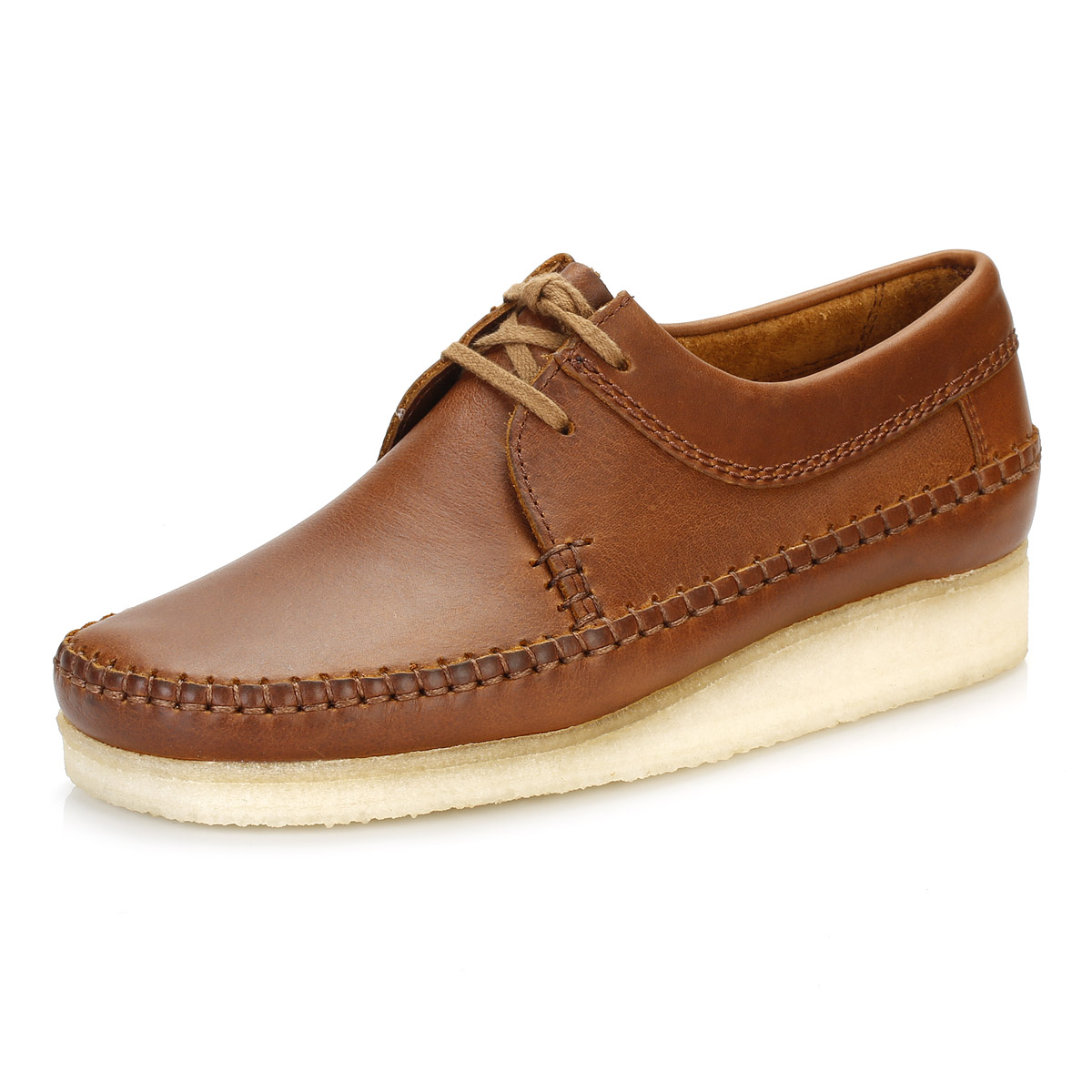 Clarks Mens Brown Leather Slip On Casual Shoe-52220