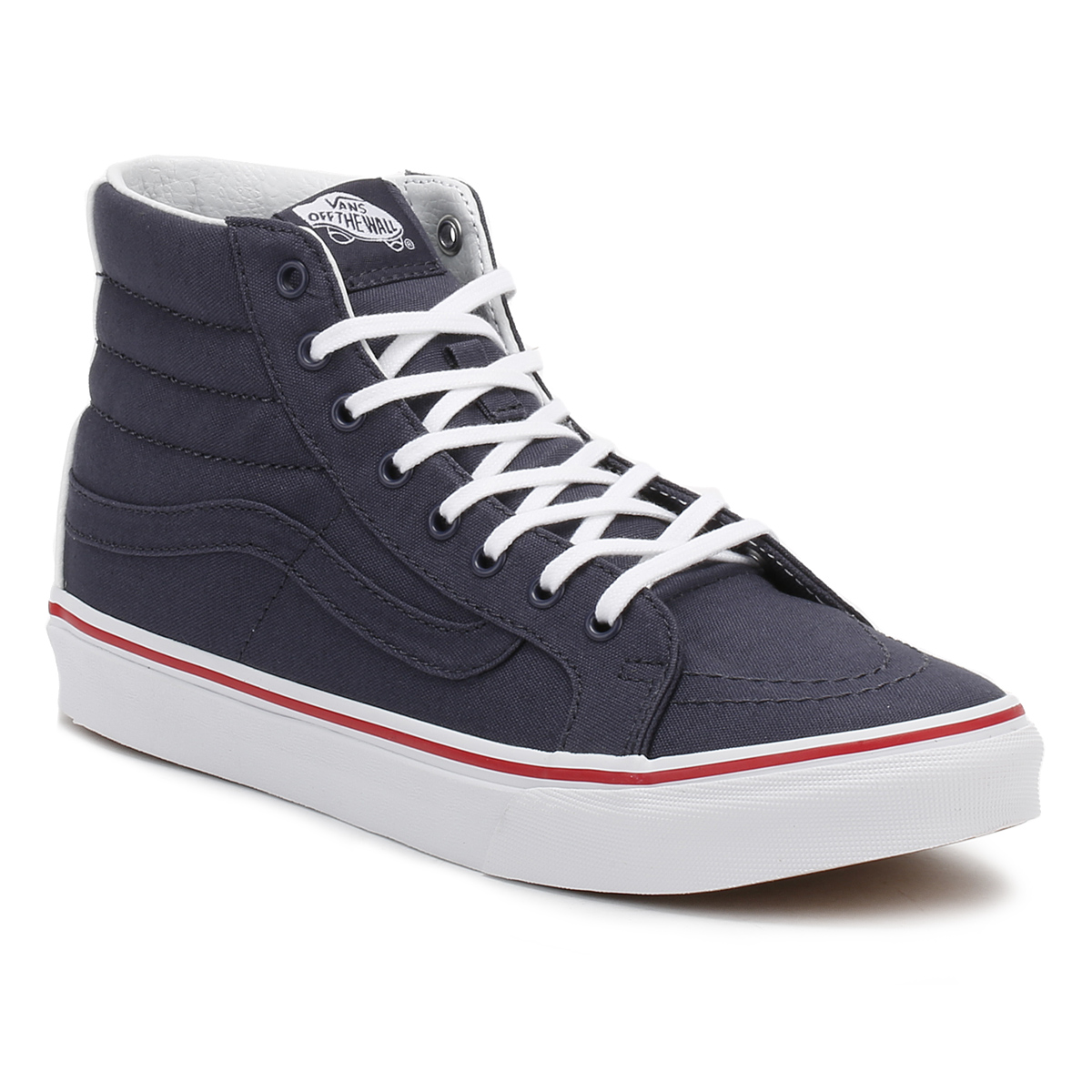 vans womens sk8 hi slim trainers lace up high top sneakers ladies casual shoes ebay. Black Bedroom Furniture Sets. Home Design Ideas