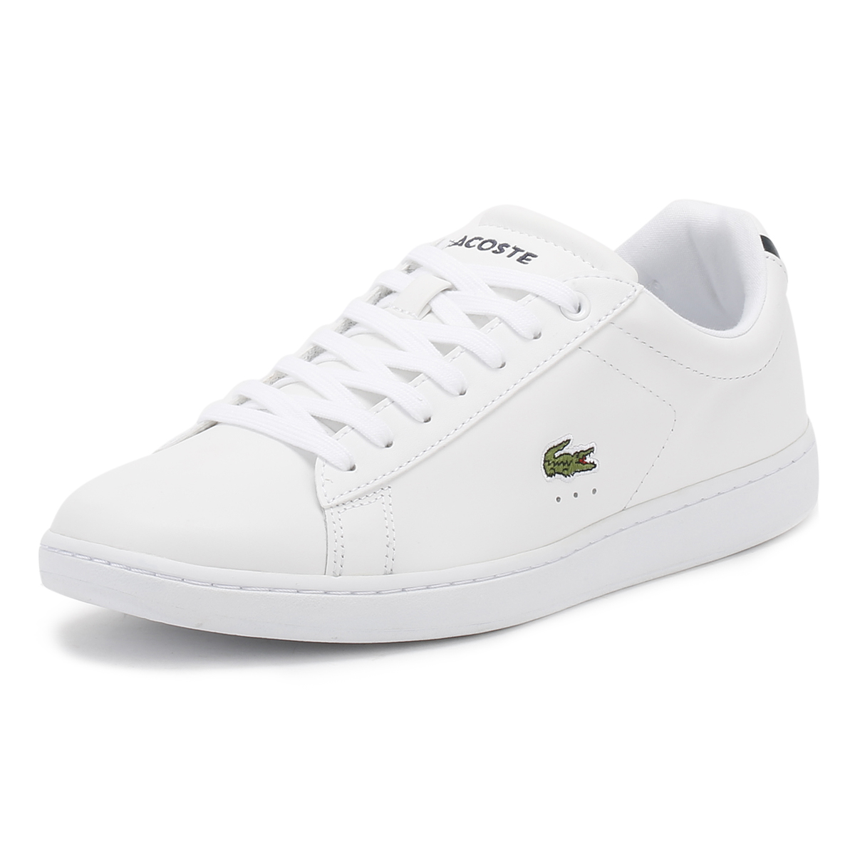 Lacoste CARNABY EVO - Trainers - white/light blue A3dSuSje