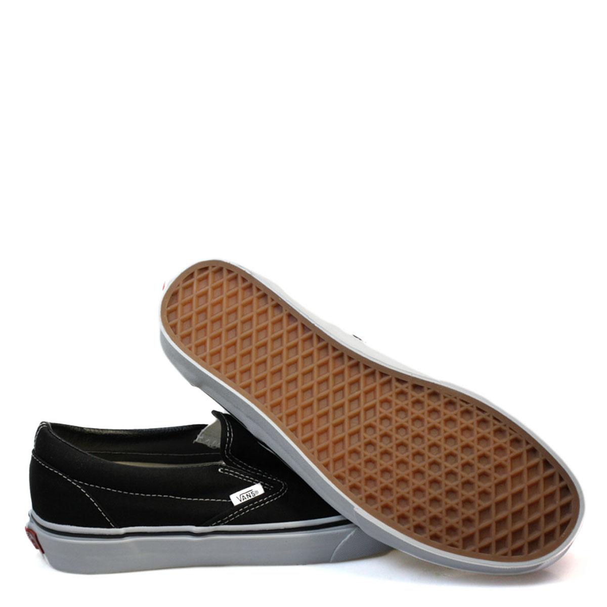 8e9636c1fd Vans-Classic-Unisex-Skate-Trainers-Black-Slip-On-