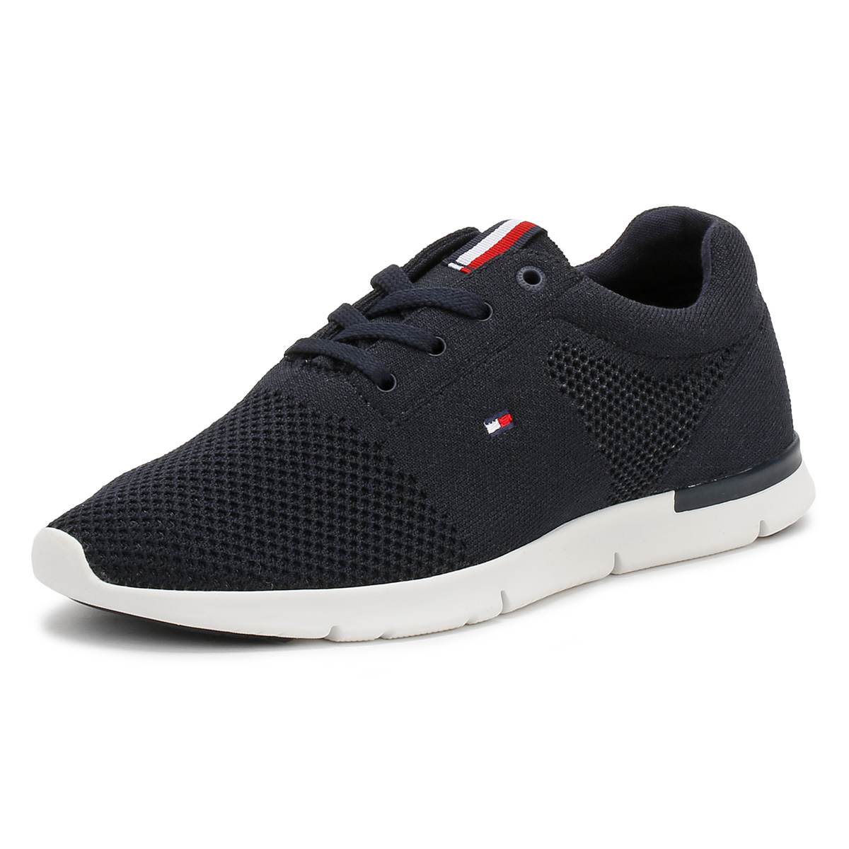 Tommy hilfiger mens 10d trainers white or navy blue lace up sport tommy hilfiger mens 10d trainers white or navy publicscrutiny Images