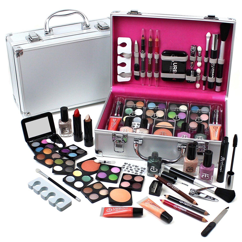 Urban Beauty Make Up Set Amp Vanity Case 60pcs Cosmetics Collection Amp Carry Box 6006323365219 Ebay