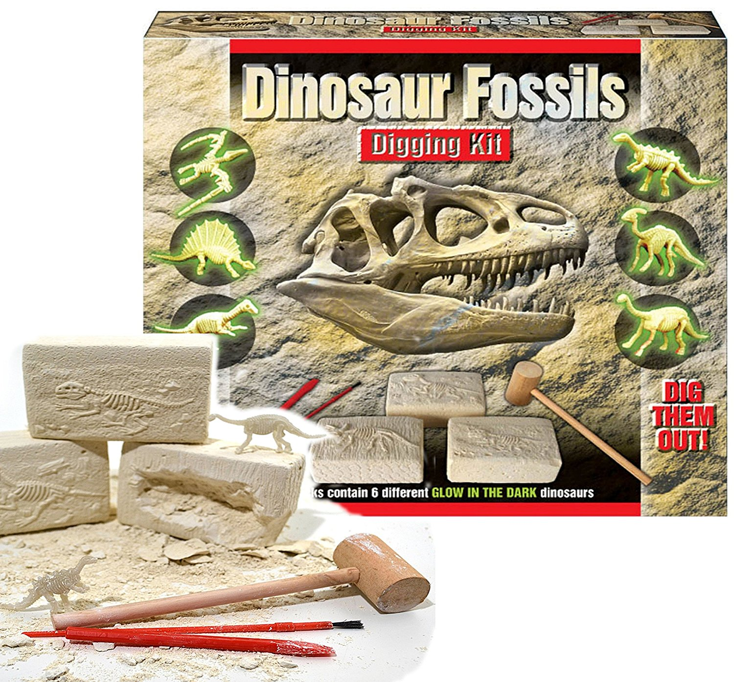 Kids Dinosaur Fossil Digging Kit Jurassic Excavation Science