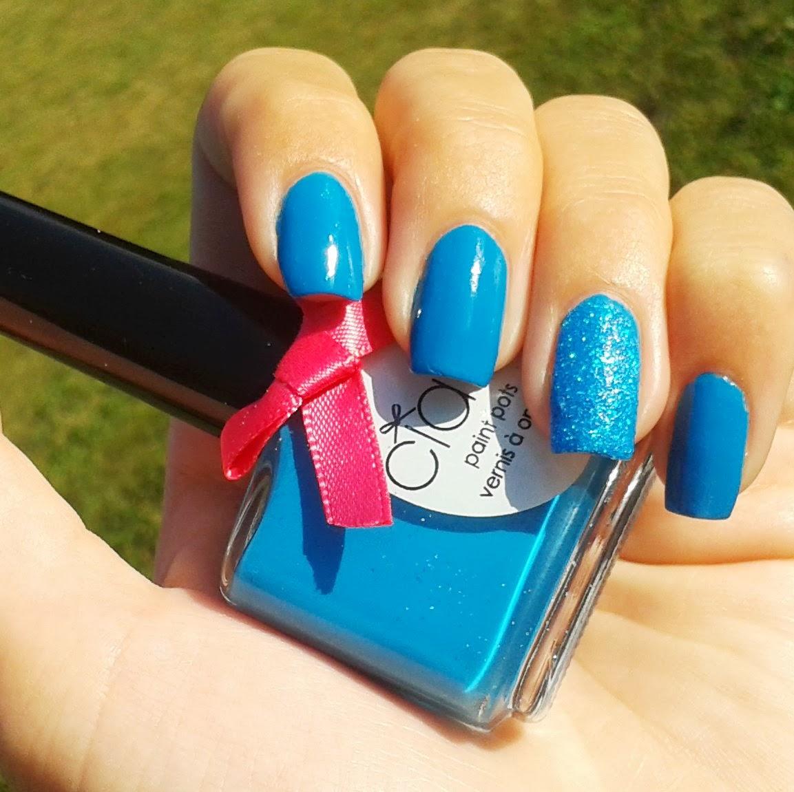 Ciaté Corrupted Neon Blue Manicure 3D Glitter Nail Polish Kit Glows ...