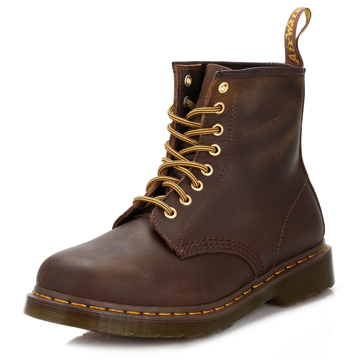 dc0617da1f0b1 Details about Dr. Martens 1460 Crazy Horse Aztec Brown Leather Ankle Boots  Unisex Winter Shoes