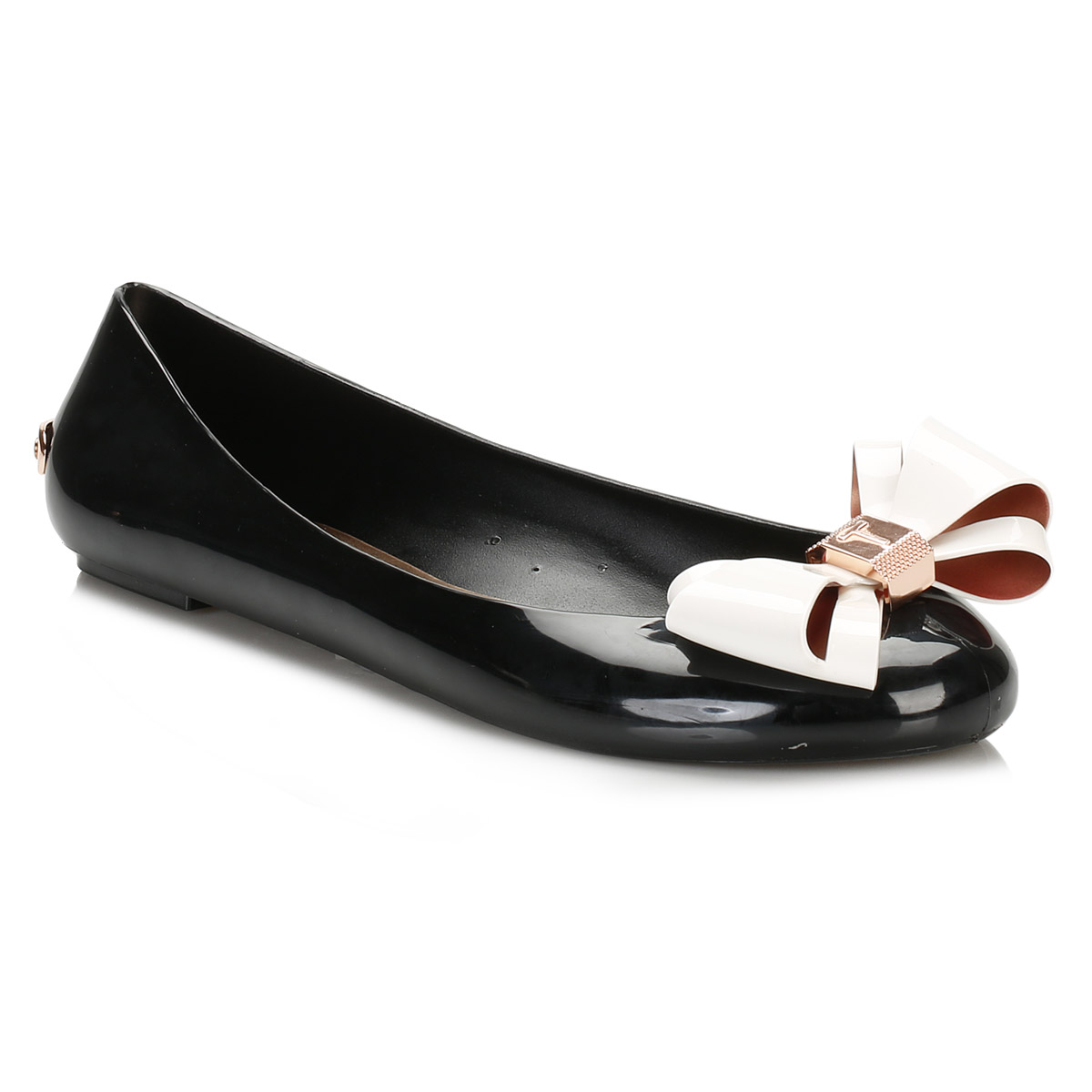 63989af58b86c Ted Baker Womens Ballerina Flats, Black & Cream Julivia Casual Shoes ...