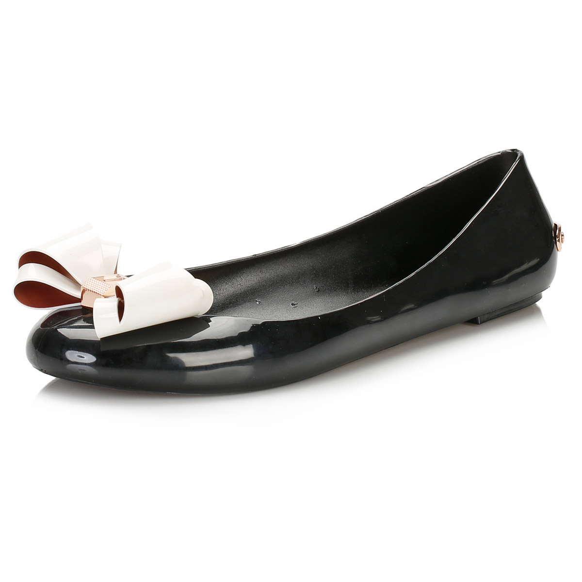 1b6625db5fc1c Ted Baker Womens Ballerina Flats, Black & Cream Julivia Casual Shoes Ladies