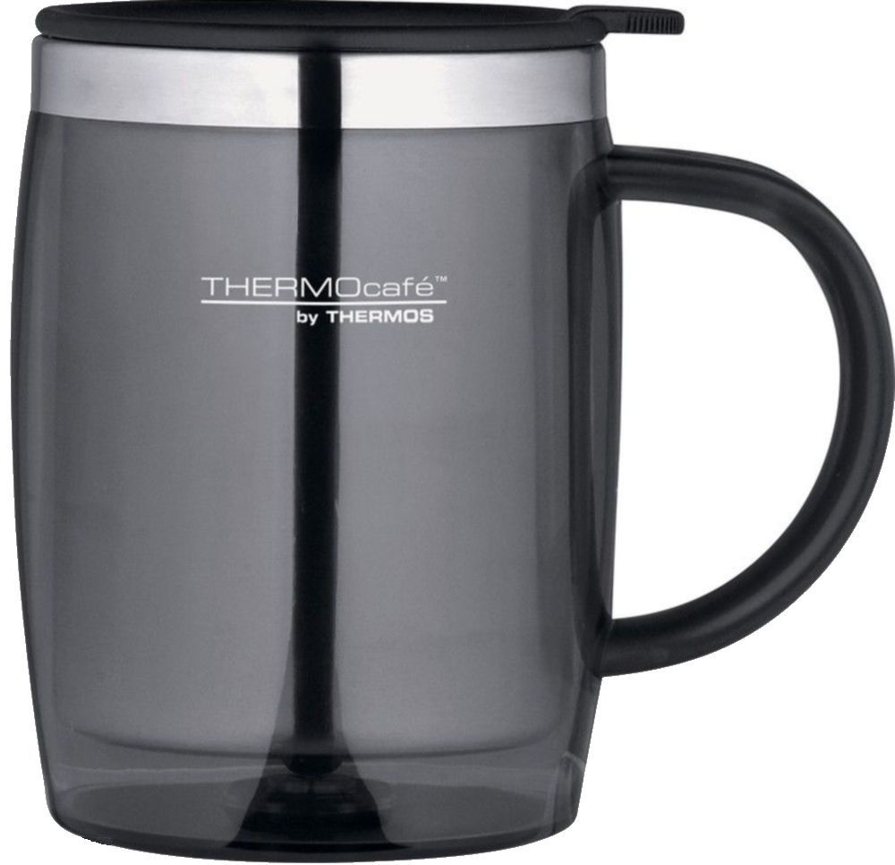 Thermos Thermocafe 450ml Insulated Desk Mug Silver Travel Cup