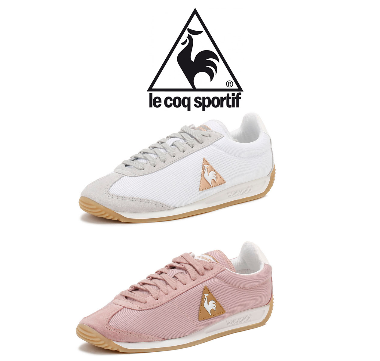91f6290ada4e Trainers Quartz W Retro Nylon from Le Coq Sportif are the perfect  lightweight running shoes with vintage look. Featuring a suede   nylon  upper
