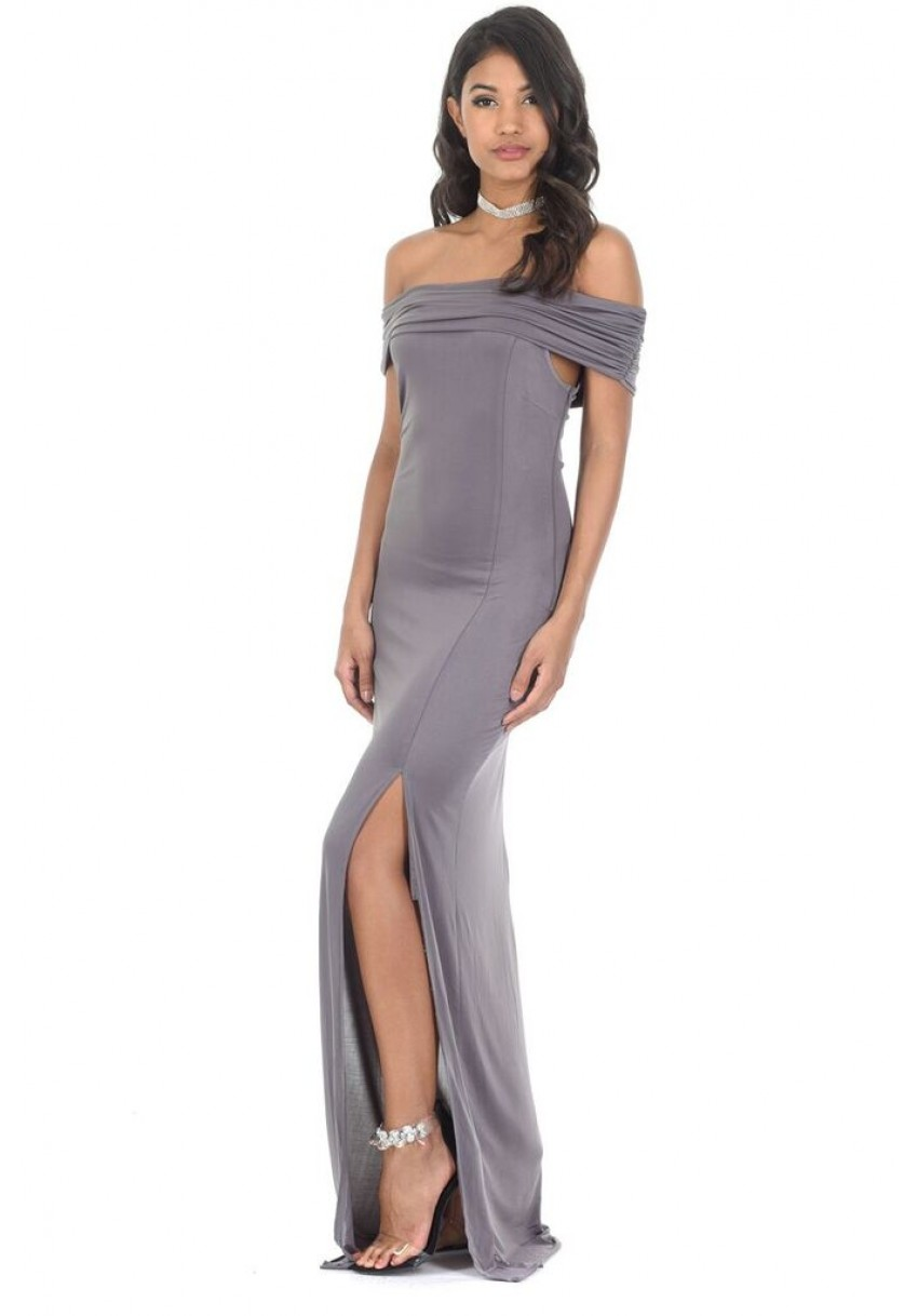 Bardot Maxi Dress - Pewter AX PARIS Sale Manchester Great Sale HXsuL378