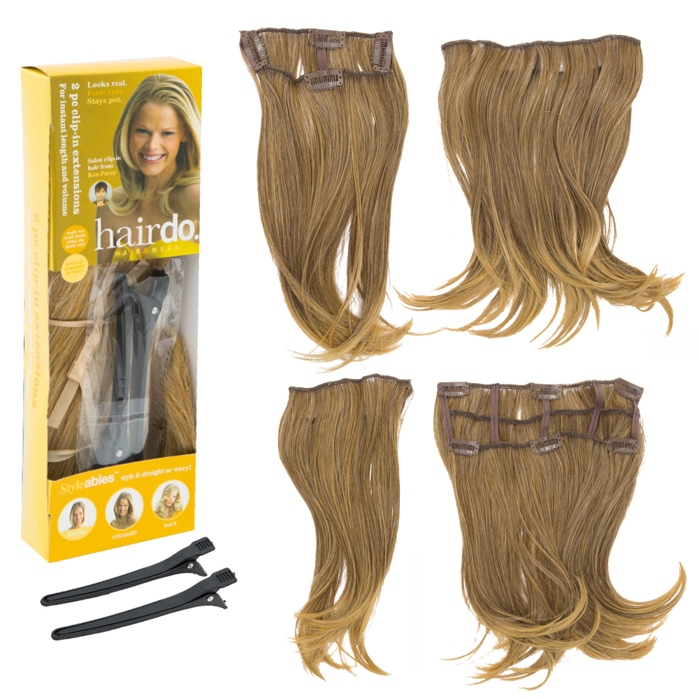 Hairdo 16 2pcs Clip In Ultra Invisible Styleable Extensions By