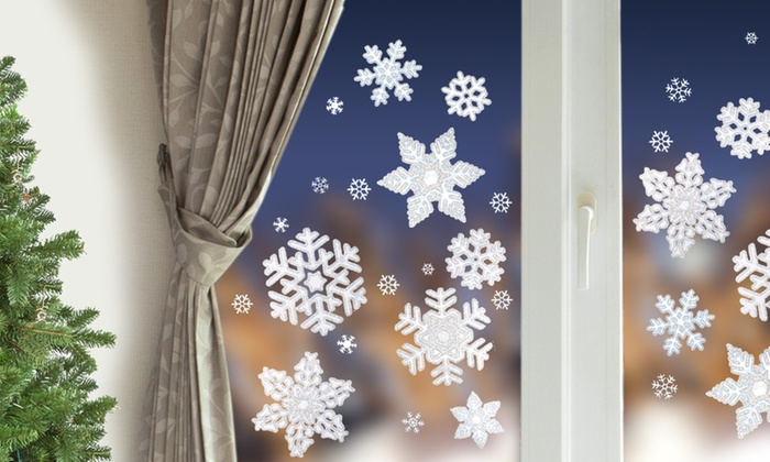 Frosted window stickers christmas decoration various snowflakes size design
