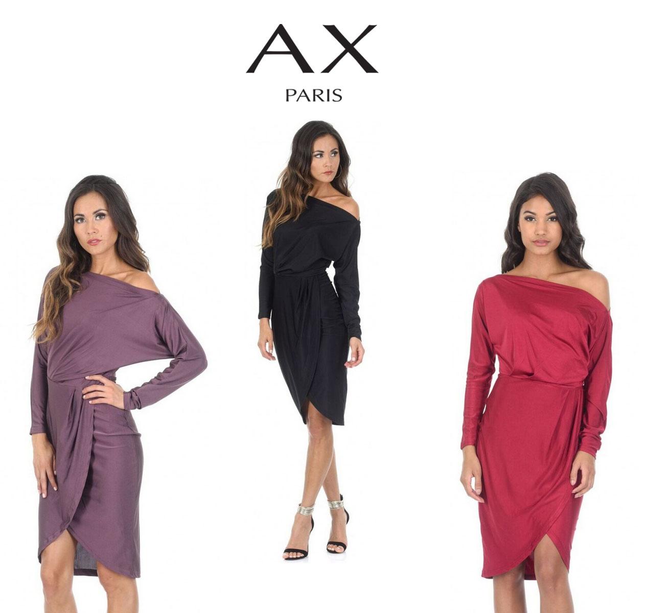 6f2942f9d1 Details about AX Paris Womens Wrap Midi Dress