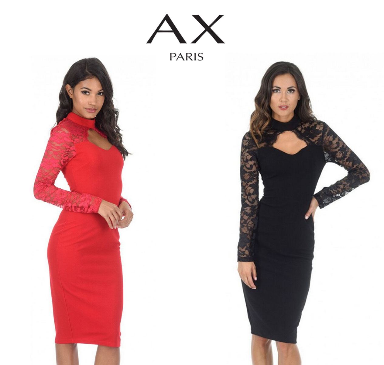 7f37b0d6207 Stun this season with this long sleeve lace bodycon with a flattering shape  and sweetheart cut out it s bound to steal the show!