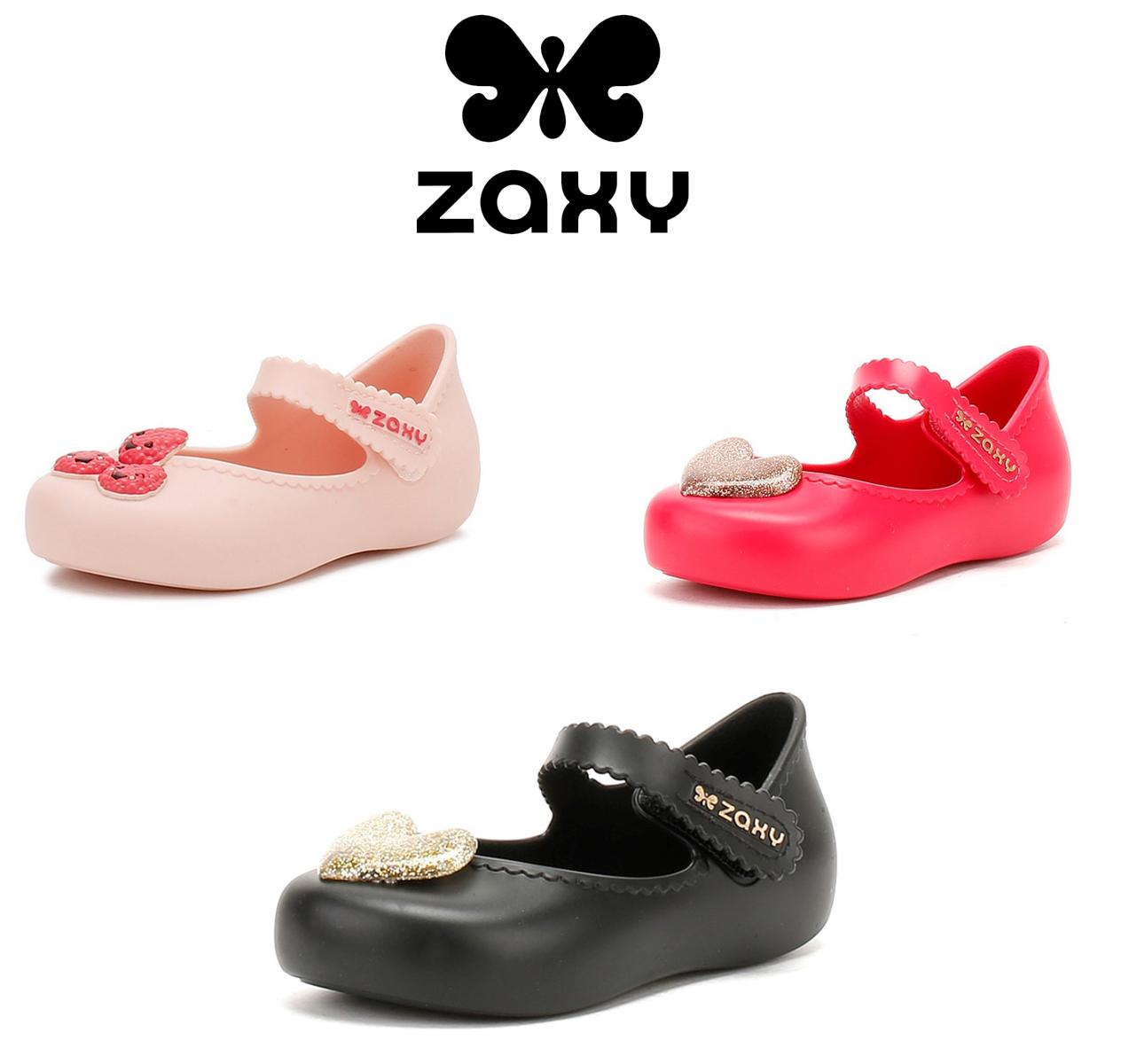 1740c6efb1a5 Details about Zaxy Infants Glitter Heart Ballerina Pumps, Kids PVC Shoes  Black or Pink