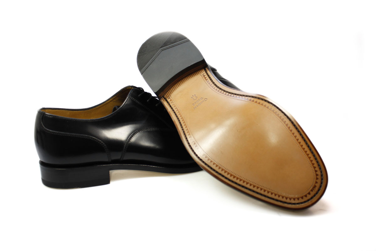 Loake Black Leather Oxford Shoes