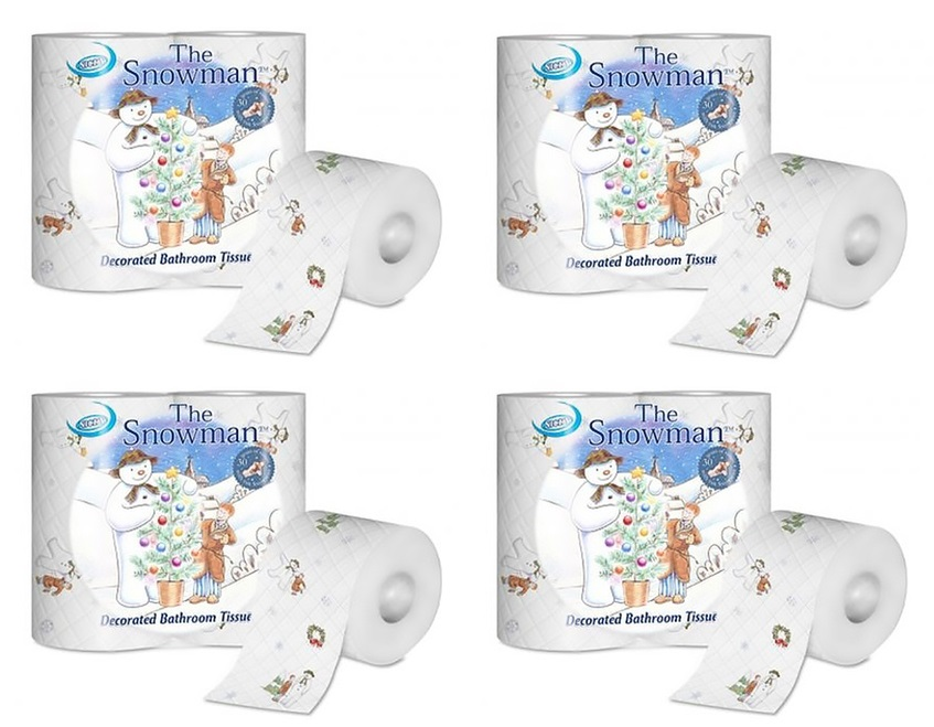 Nicky 39 the snowman 39 20 rolls 3ply toilet paper soft for Snowman pocket tissues