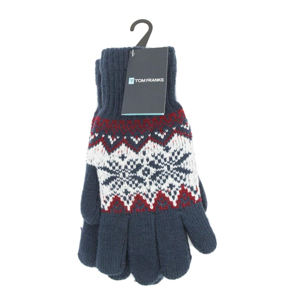 5f8f9777d89 Mens Fair Isle Beanie Pom Pom Hat   Gloves Set