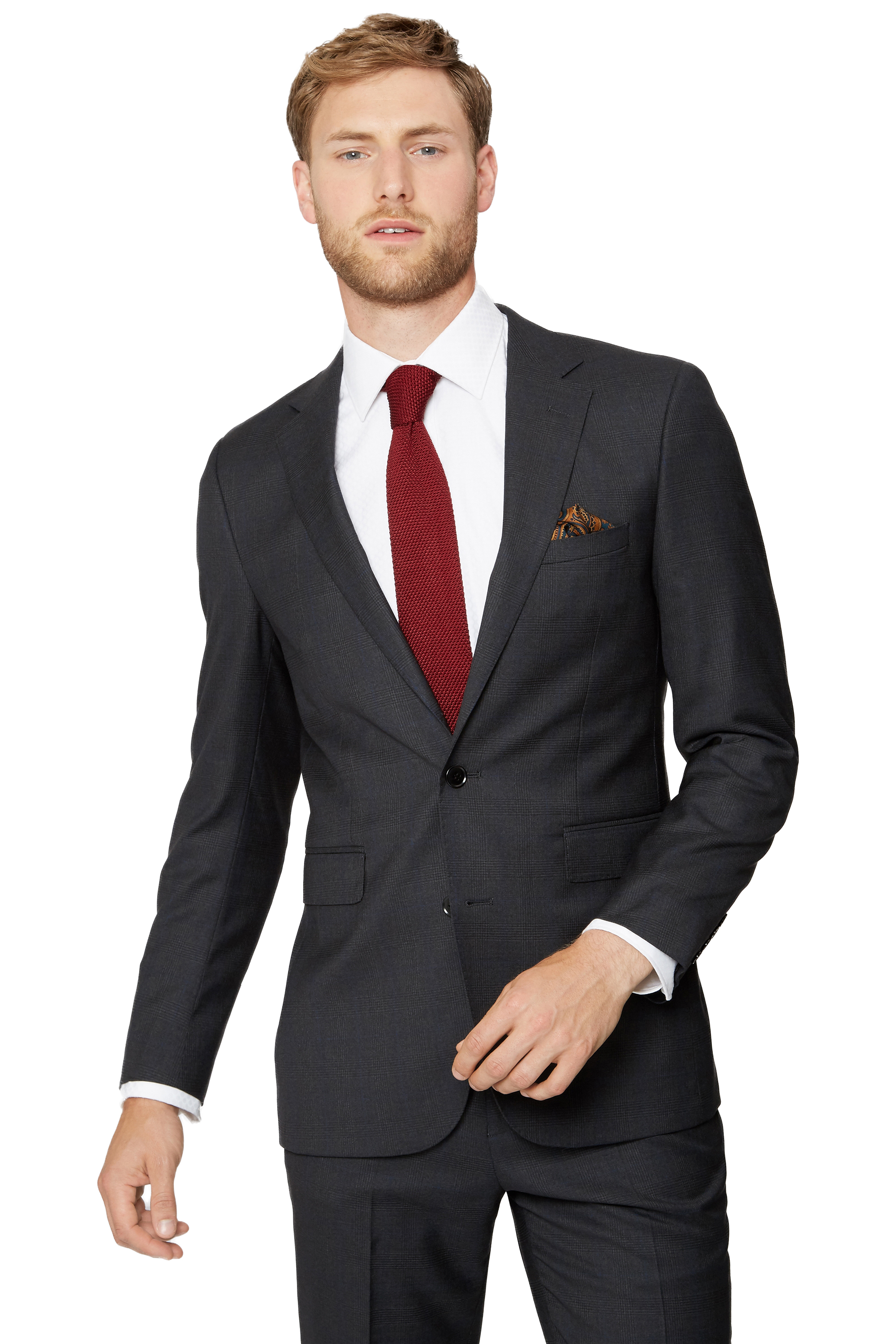 Cerruti Mens Charcoal Grey Suit Trousers Tailored Fit