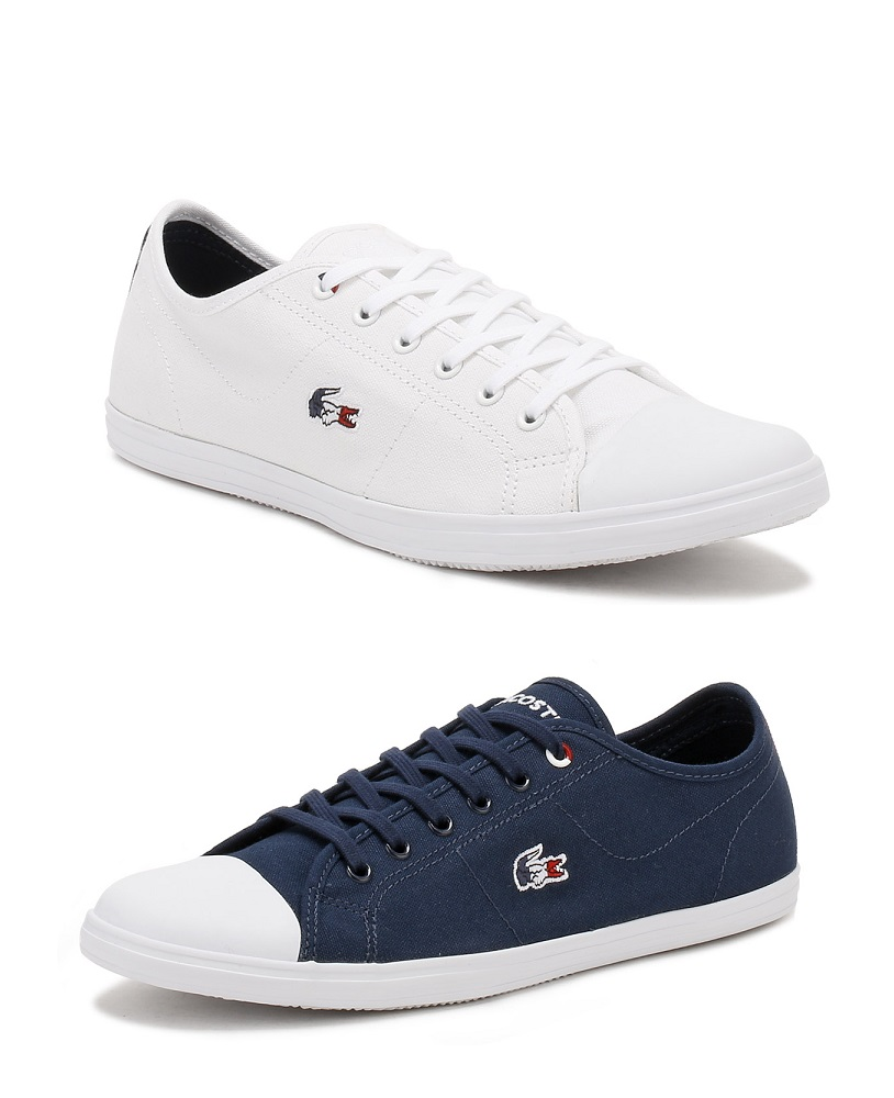 66c54cff4 Details about Lacoste Womens Trainers Navy or White Ziane 317 1 Ladies Sport  Casual Shoes