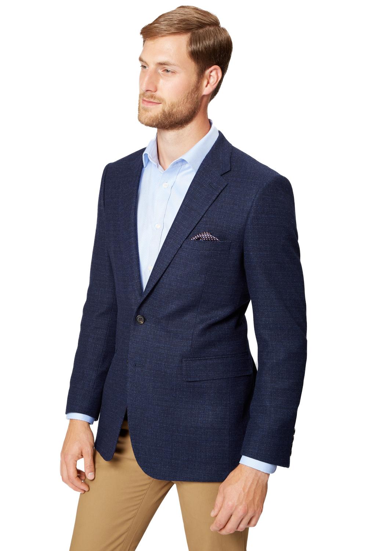 b9997195 Details about Ermenegildo Zegna Cloth Mens Navy Blue Semi Plain Jacket 2  Button Blazer