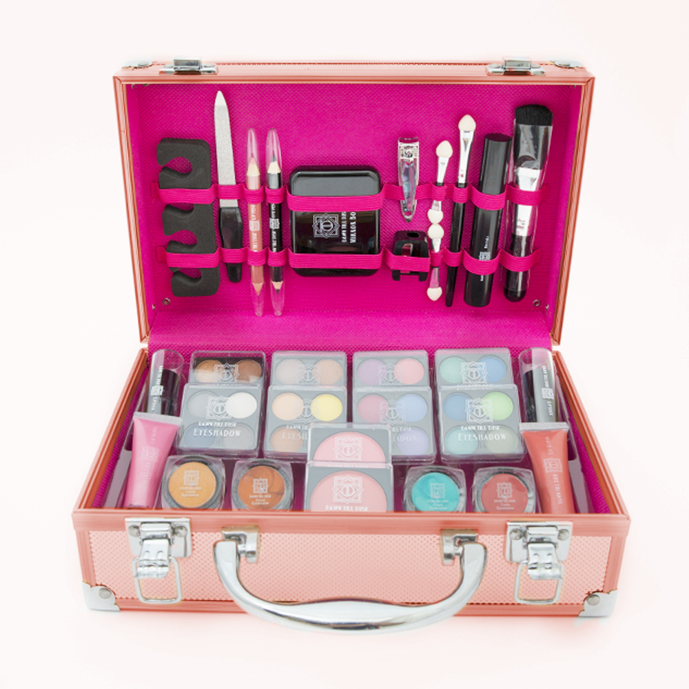 54pcs Make Up Set & Vanity Case Beauty Rose Gold Cosmetics Storage ...