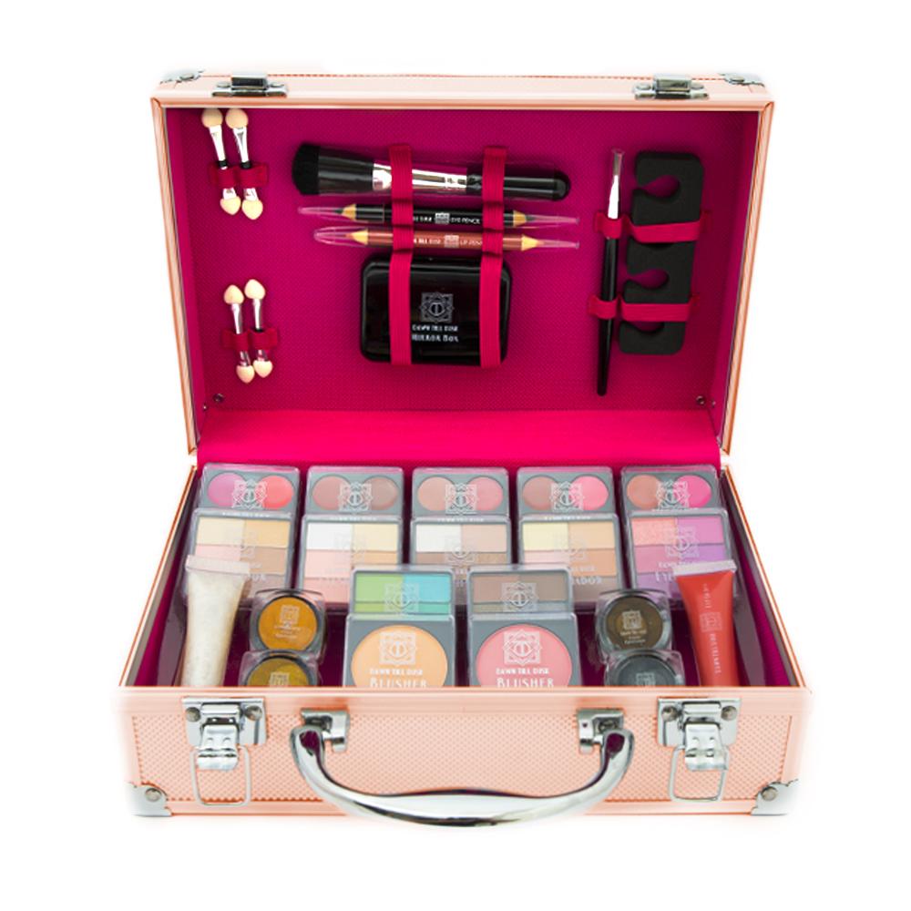 80pcs Make Up Set & Vanity Case Beauty Rose Gold Cosmetics Storage ...