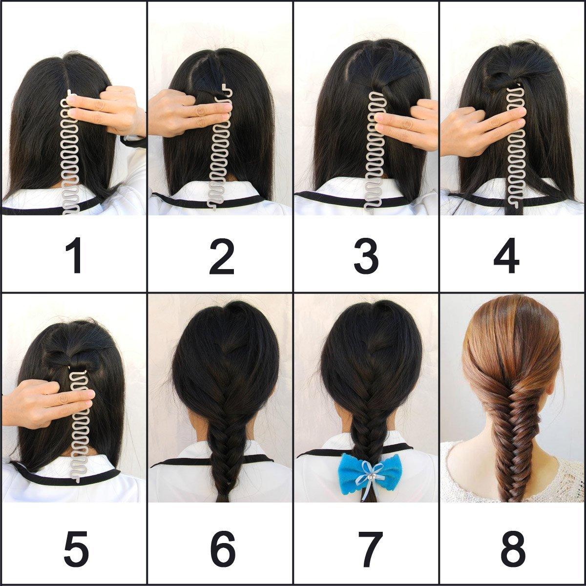 Women French Braid Plaiting Clip Hair Styling Twist Hook Bun Maker