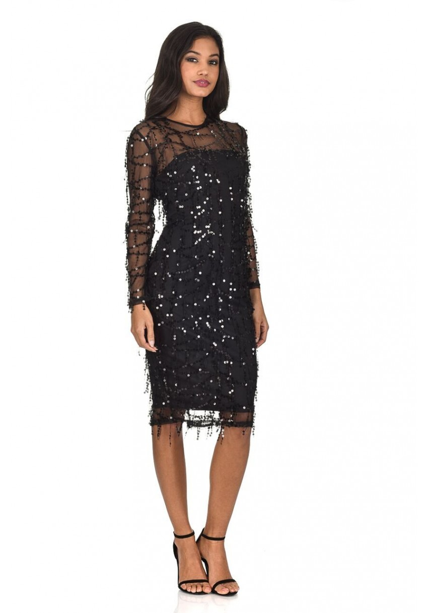Sparkly bodycon midi dress
