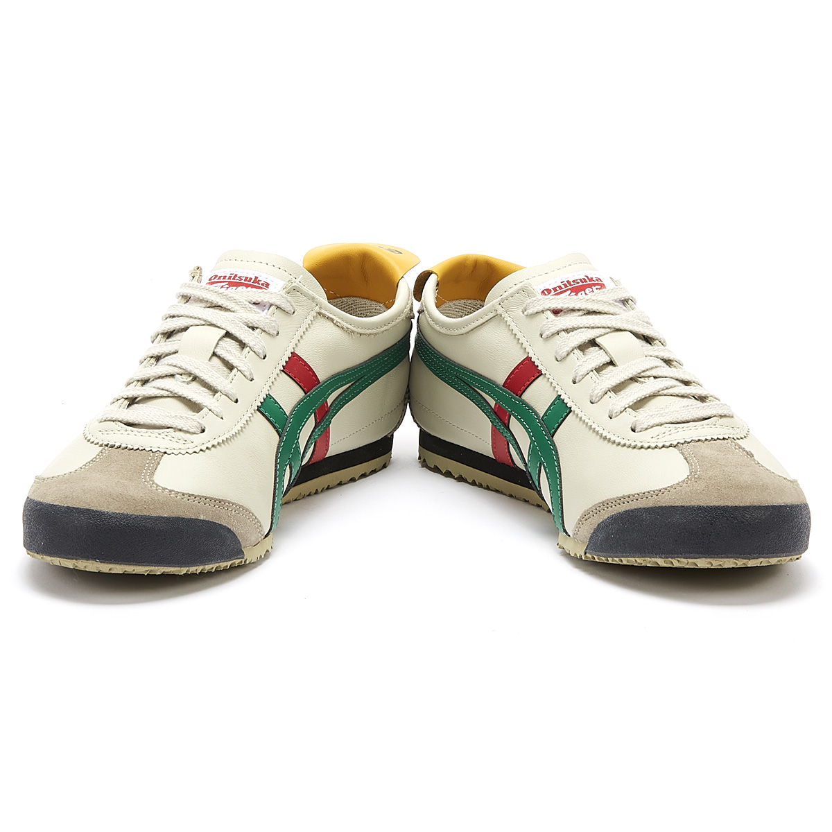 purchase cheap ca0eb 101ee Details about Onitsuka Tiger Mexico 66 Mens Birch Beige / Green Trainers  Sport Casual Shoes