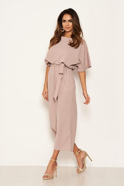 Simply Be Womens AX Paris Stripe Cullotte Jumpsuit