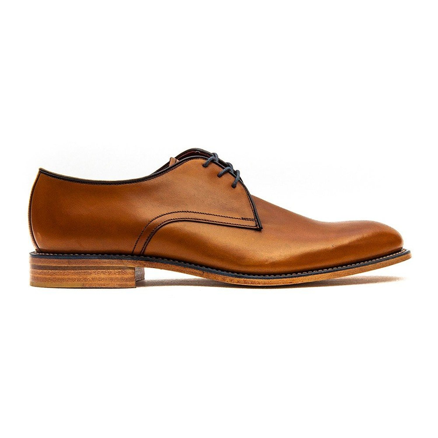 Loake Tan Leather Derby Shoes Uk