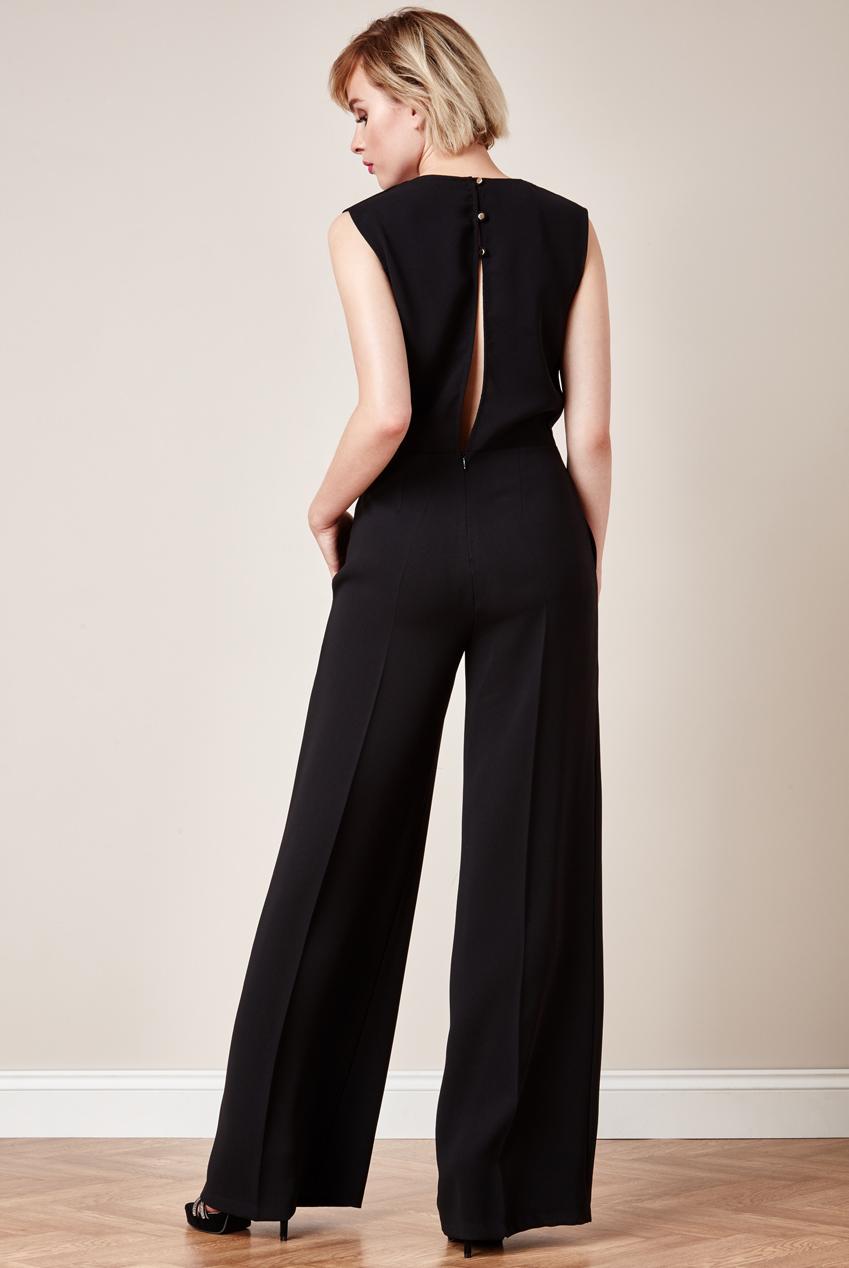 Black evening wear trousers