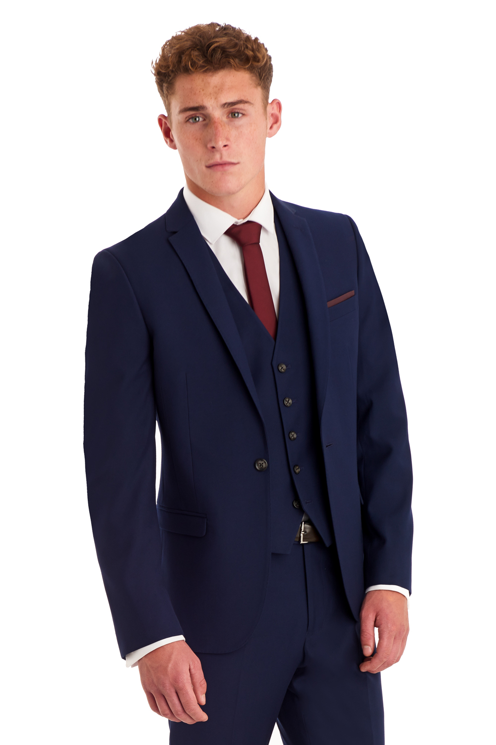 Moss London Mens Suit Jacket Slim Fit Blue Twill Wedding Prom ...