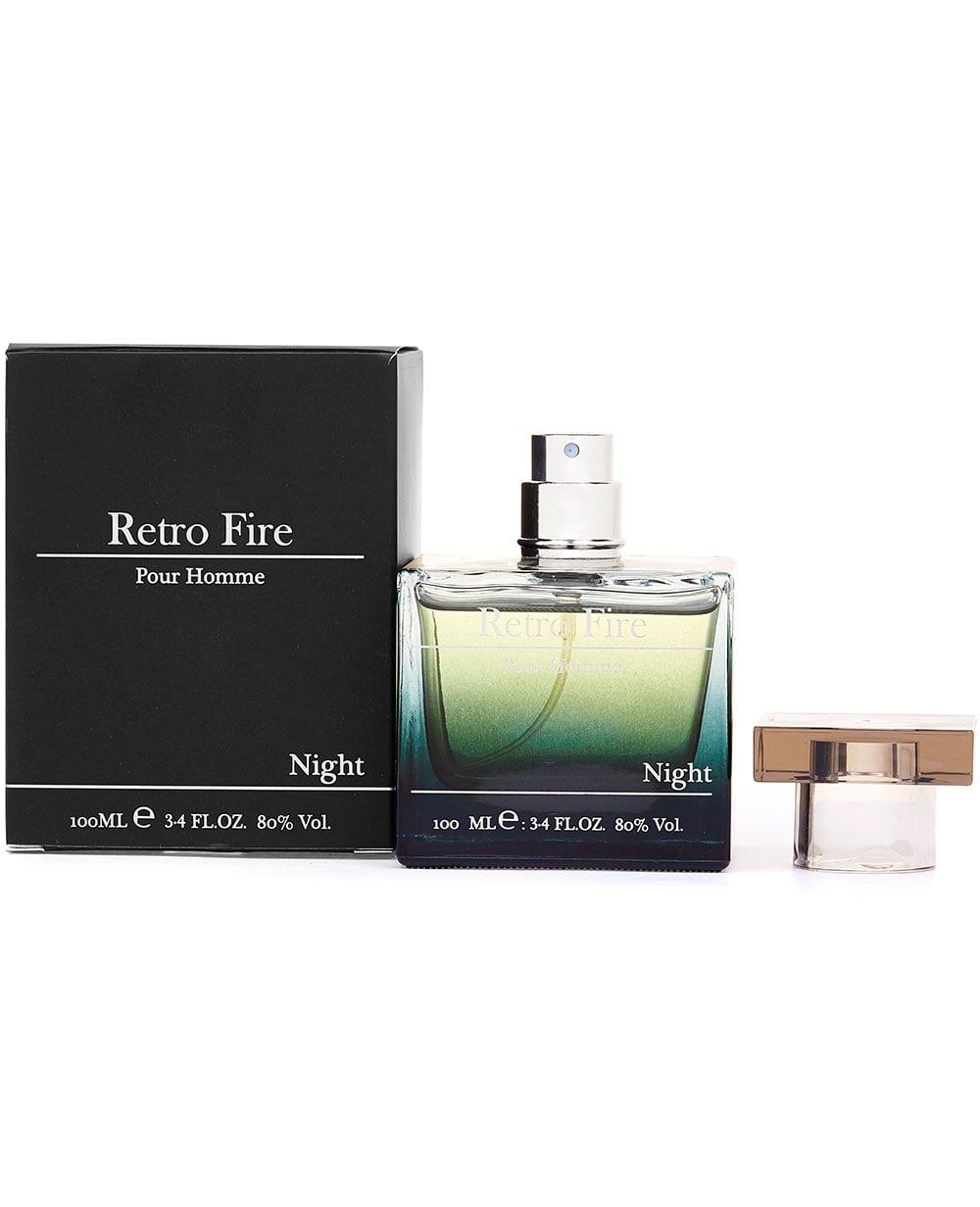 retro fire mens night 100ml aftershave eau de toilette masculine scents ebay. Black Bedroom Furniture Sets. Home Design Ideas
