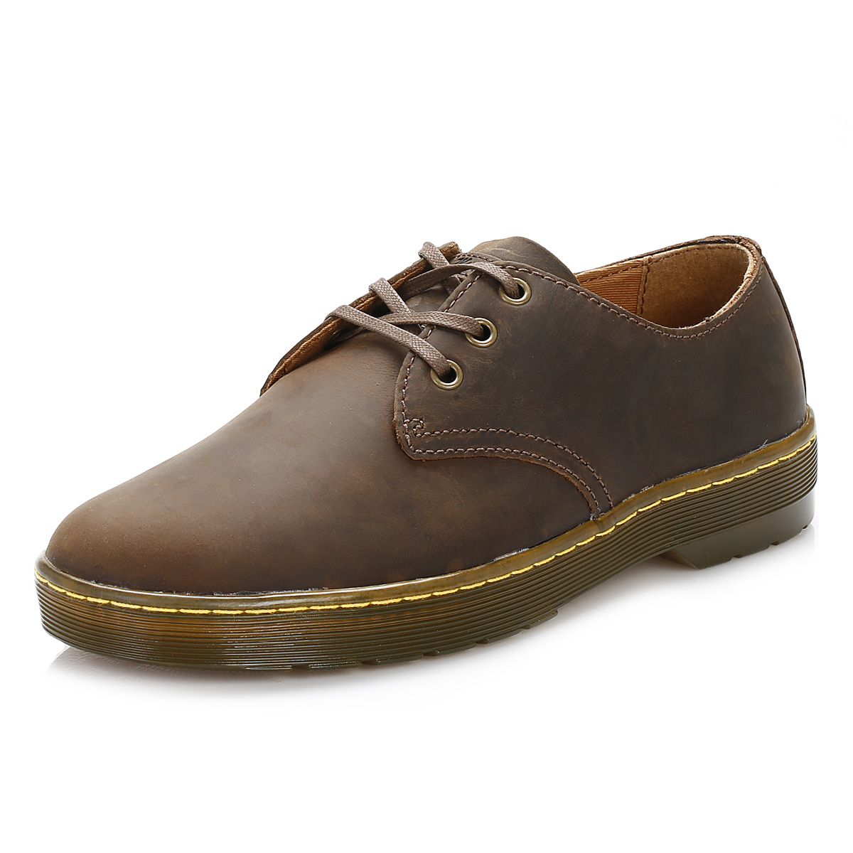 dr martens mens brown leather derby shoes lace up smart casual docs ebay. Black Bedroom Furniture Sets. Home Design Ideas