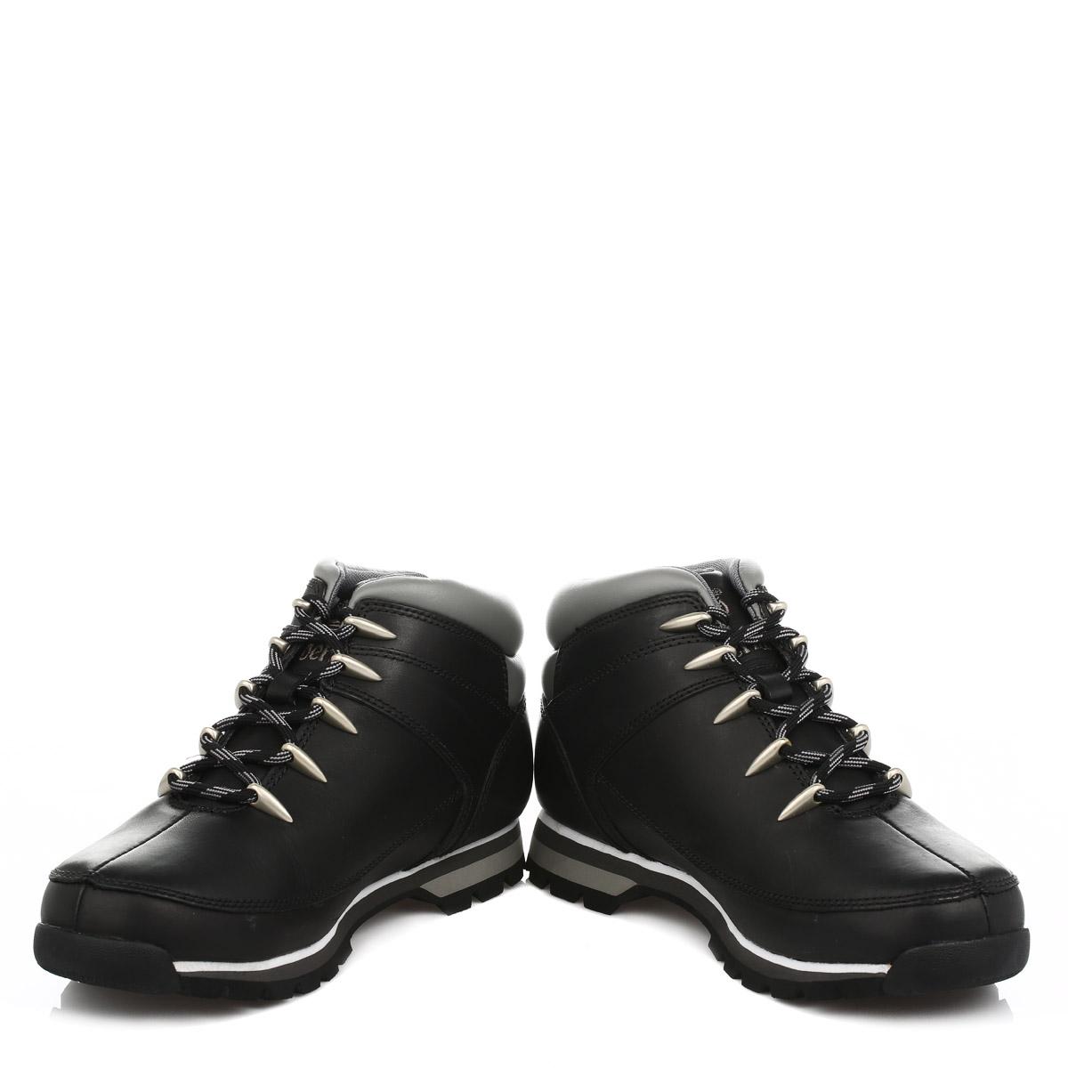 Dettagli su Da Uomo Timberland Euro Sprint Escursionista Stivali, Nero o Giallo Grano, scarpe di pelle mostra il titolo originale